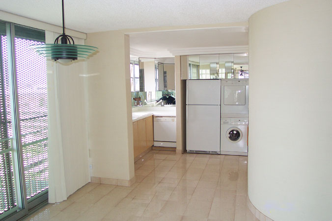 Kitchen area, with appliances, from the Dining area.