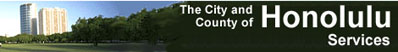Honolulu City & County Banner