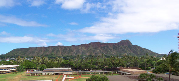 Diamond Head, from the Rec. Deck